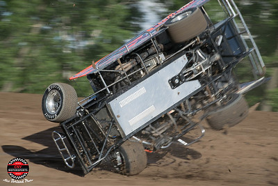 Mike Maresca Flips at Outlaw Speedway June 20 2017 Alex Borland Photos