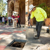 The Class of 2017 time capsule burial on Tuesday May 2, 2017 in Chico, Calif. Graduating students placed symbolic items into the time capsule, which is buried and will not be reopened until the year 2067. <br /> (Jessica Bartlett/ Photographer)