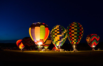 DA029,DJ,Lighting of the Balloons after the sun goes down at The Great Galena Balloon Races