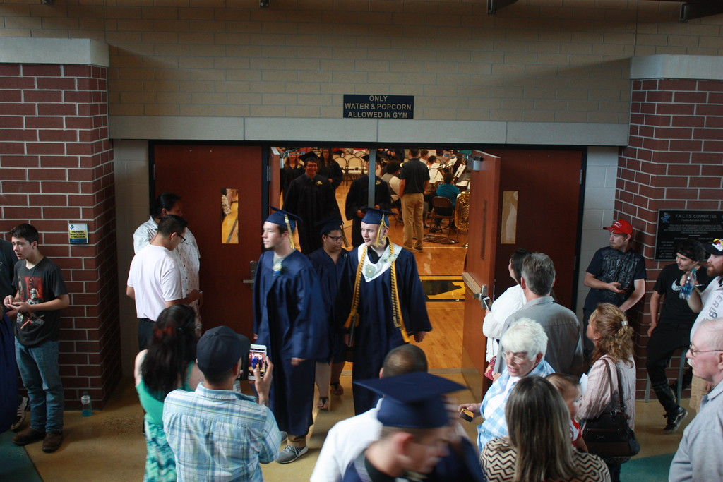 . photo by Liz Gray  2017 Shepherd High School graduation