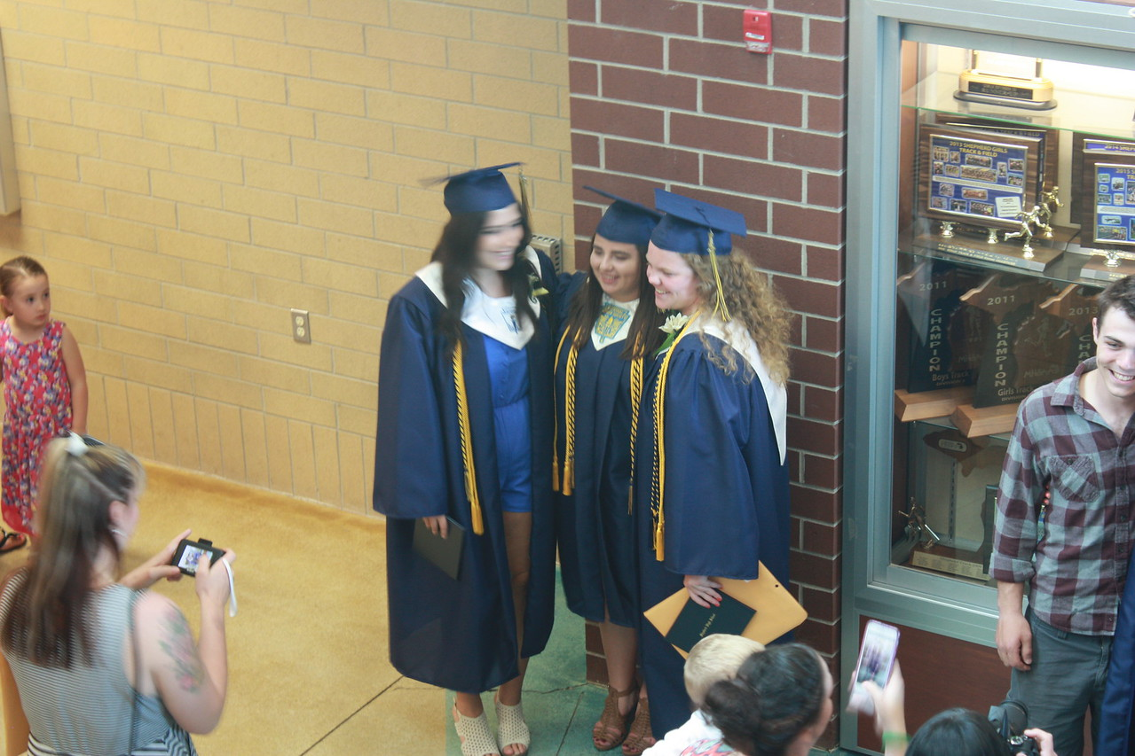 photo by Liz Gray  2017 Shepherd High School graduation