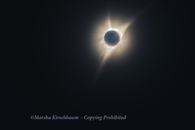2017 Solar Eclipse Totality and Earthshine - Terrabone, Oregon