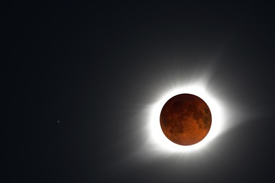 Composite Photo of a SuperMoon and the 2017 Eclipse
