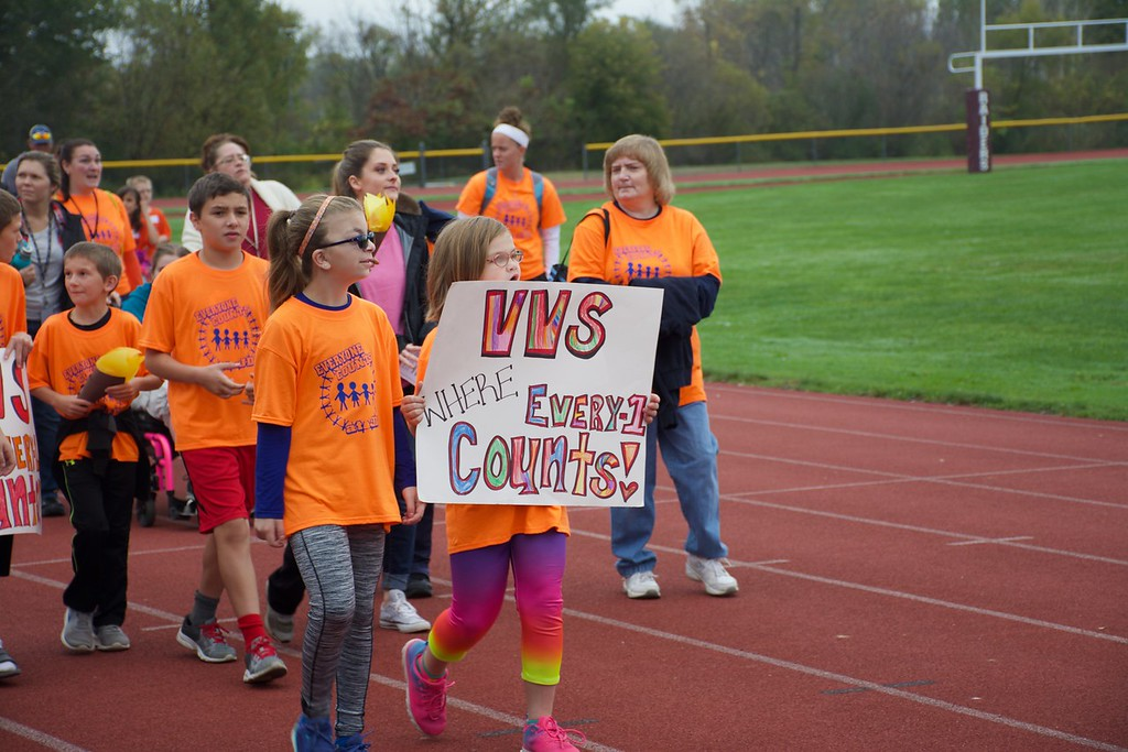 . Photo Courtesy Kathy Sims - Canastota High School Student athletes participate in the seventh annual Special Olympics at Canastota High School on Wednesday, Oct. 11, 2017.