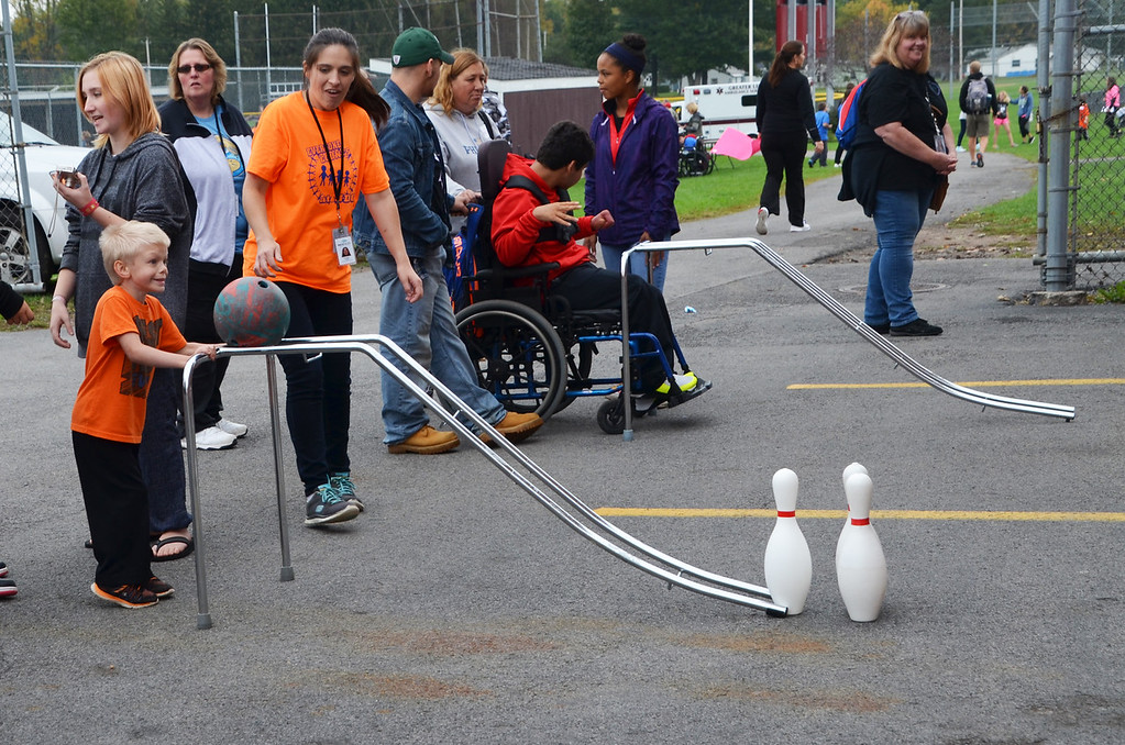 . Photo Courtesy Sapna Kollali - Madison-Oneida BOCES Student athletes participate in the seventh annual Special Olympics at Canastota High School on Wednesday, Oct. 11, 2017.