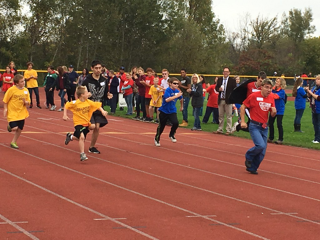 . Charles Pritchard - Oneida Daily Dispatch Student athletes participate in the seventh annual Special Olympics at Canastota High School on Wednesday, Oct. 11, 2017.