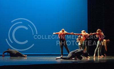 Students with the Kansas State University School of Music, Theatre, and Dance perform during the 2017 Spring Dance at McCain Auditorium in Manhattan, Kansas on March, 31, 2017. The recital showcased many styles, including jazz, tap, modern, ballet and African dance. (Justin Wright   The Collegian)