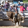Aaron Williams, Pismo Beach, CA rides a bull during the 2017 Springville Sierra Rodeo.