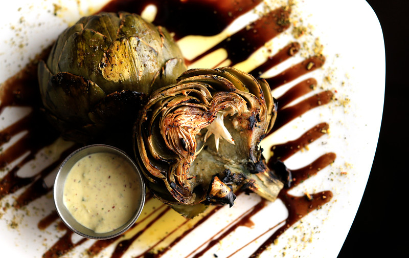 The grilled artichoke at FnG Eats in Keller. (Photo by Ron Jenkins)