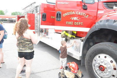 Leah McDonald Families flocked to Glenwood Plaza on Monday, July 10, 2017, for the third annual Touch a Truck event.