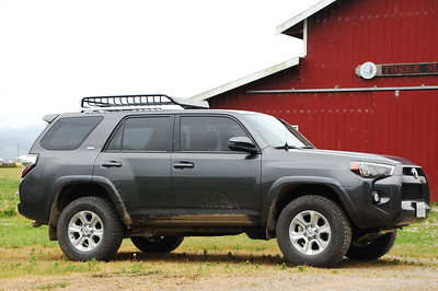 2017 4Runner: RockyMounts 14'er roof basket  Basket was later replaced with a Yakima Loadwarrior w/ extension