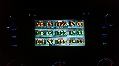 Changed my radio background to an image of Doc Brown's time circuits from Back to the Future