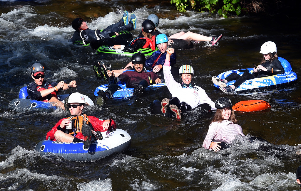 . Several hundred people  decided to tube to work along Boulder Creek   during the 10th Annual Tube to Work Day in Boulder on Friday.For more photos and videos, go to dailycamera.com.  Cliff Grassmick  Staff Photographer July 14, 2017