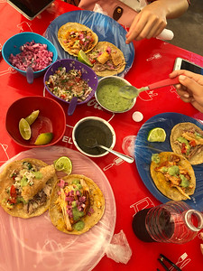 Tacos are a breakfast food in Tulum
