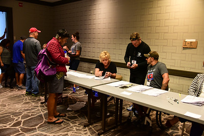 Participants registerand attend the kick off dinner for the 2017 UnitedHealthcare Great Lakes Challenge ride from Minnetonka, Minn to Chicago, Il. Project Hero, a 501(c)3 non-profit organization, is dedicated to helping Veterans and First Responders affected by PTSD, TBI, illness and injury achieve rehabilitation, recovery and resilience in their daily lives.  Photo by Jimmy Stivers