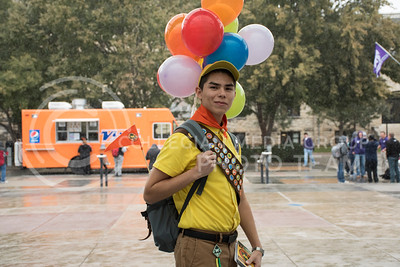 Rafael Zamora as Russel from the movie Up, took Second Place Overall at the UPC Costume Contest held in the Kansas State Student Union in Manhattan, KS, on Oct. 31, 2017. (Olivia Bergmeier | Collegian Media Group)