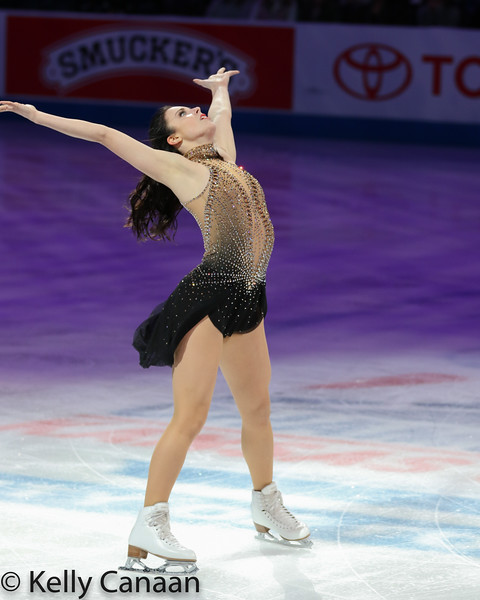 Ladies' silver medalist Ashley Wagner performs at the Smuckers' Skating Spectacular in Kansas City.