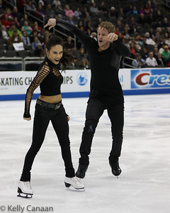 Madison Chock and Evan Bates had a little fun in their short dance. They won silver.