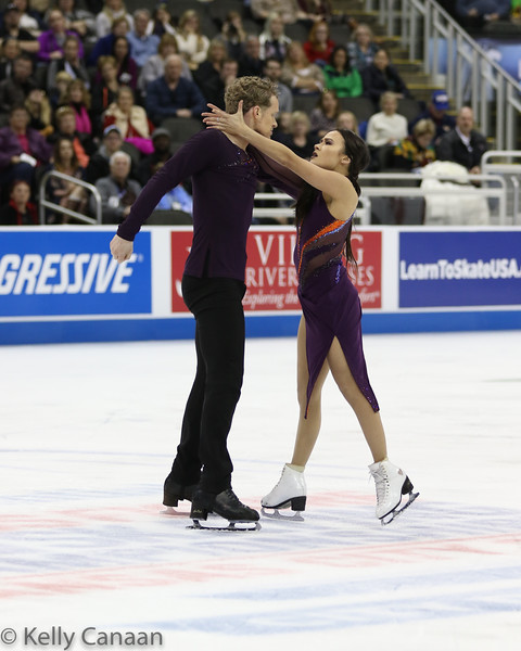Evan Bates and Madison Chock finish their free dance in Kansas City. They won silver.
