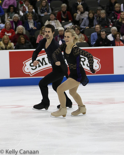 Zach Donohue and Madison Hubbell, having a little fun in their short dance.