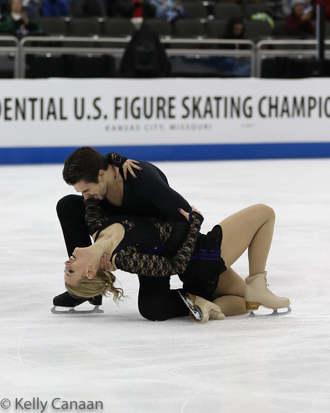 Madison Hubbell and Zach Donohue finish with a flourish in Kansas City. They went on to win the bronze medal.