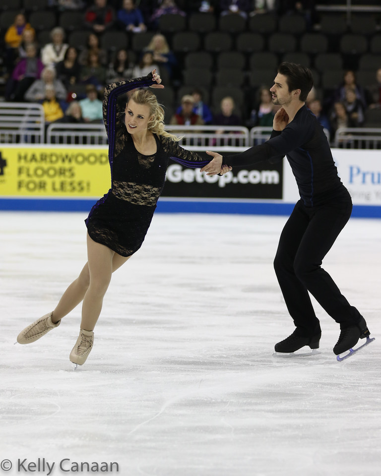 Madison Hubbell and Zach Donohue skate their short dance. They would go on to win bronze.