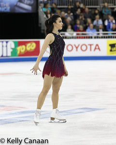 Ashley Wagner begins her free skate in Kansas City.