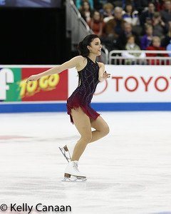 Silver medalist Ashley Wagner skates during her free skate in Kansas City.