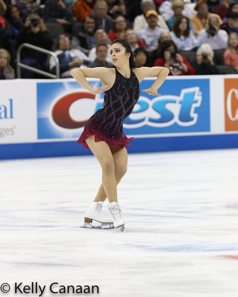 Ashley Wagner performs during her free skate at the 2017 US Figure Skating Championships, where she finished second.
