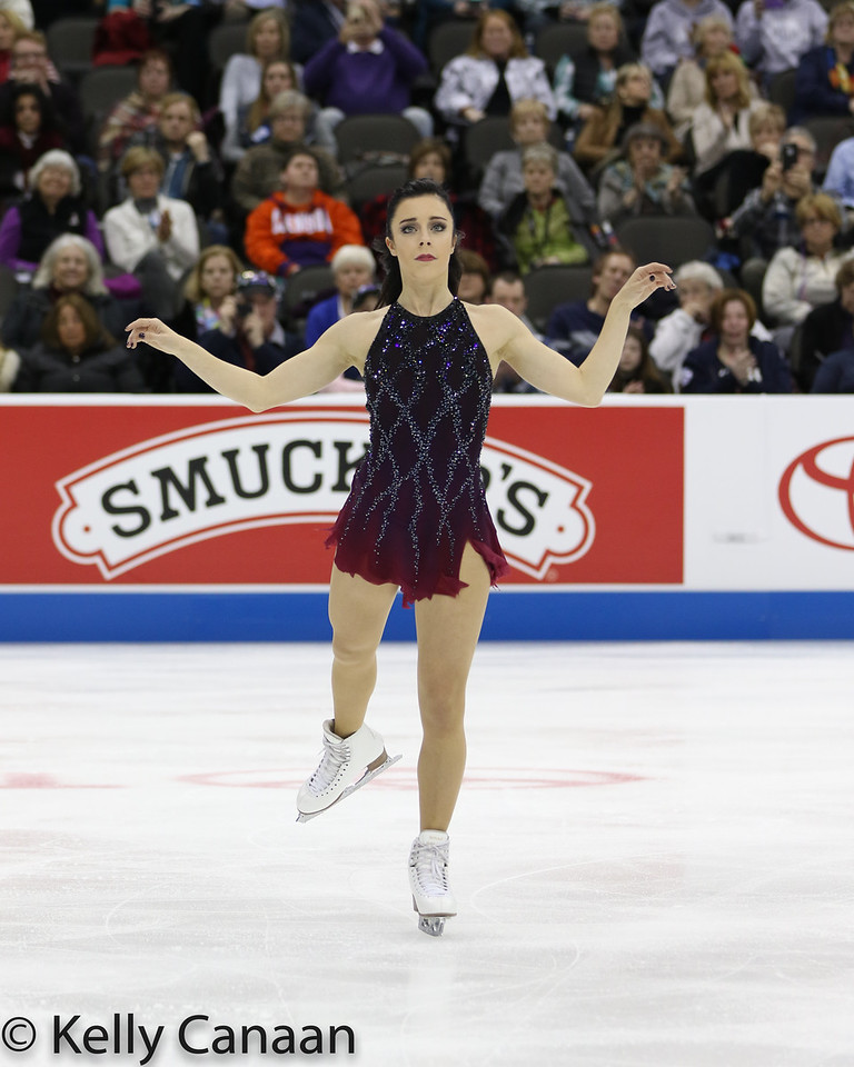 Silver medalist Ashley Wagner performs her free skate in Kansas City.