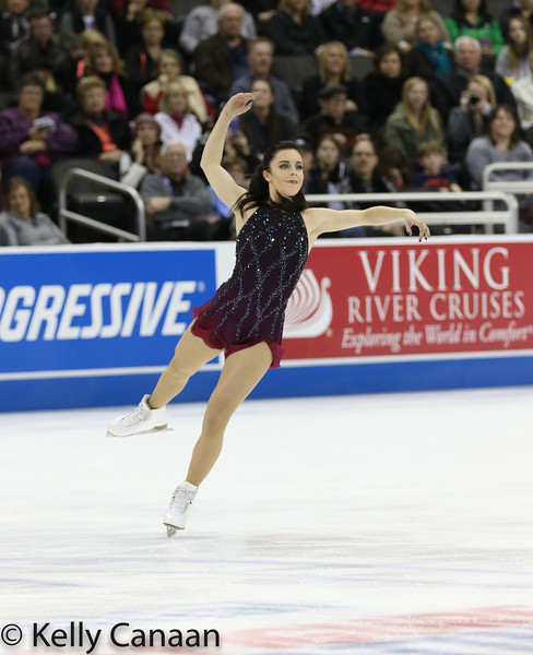 Ashley Wagner dazzles during her free skate in Kansas City. She won silver.