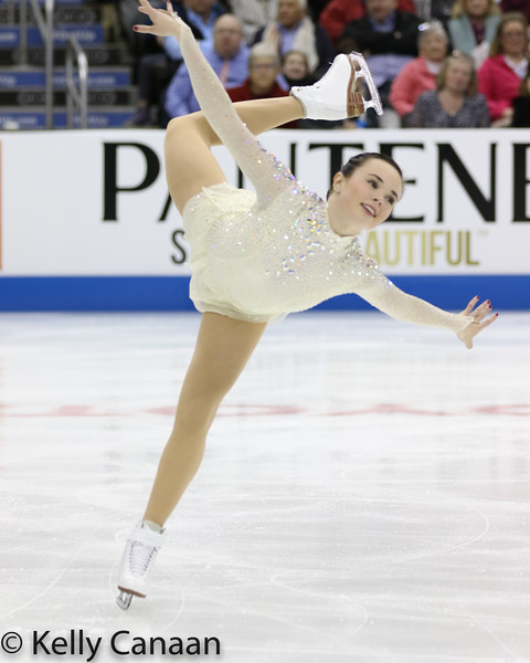 Mariah Bell glided her way to the bronze medal at the 2017 US National Championships.