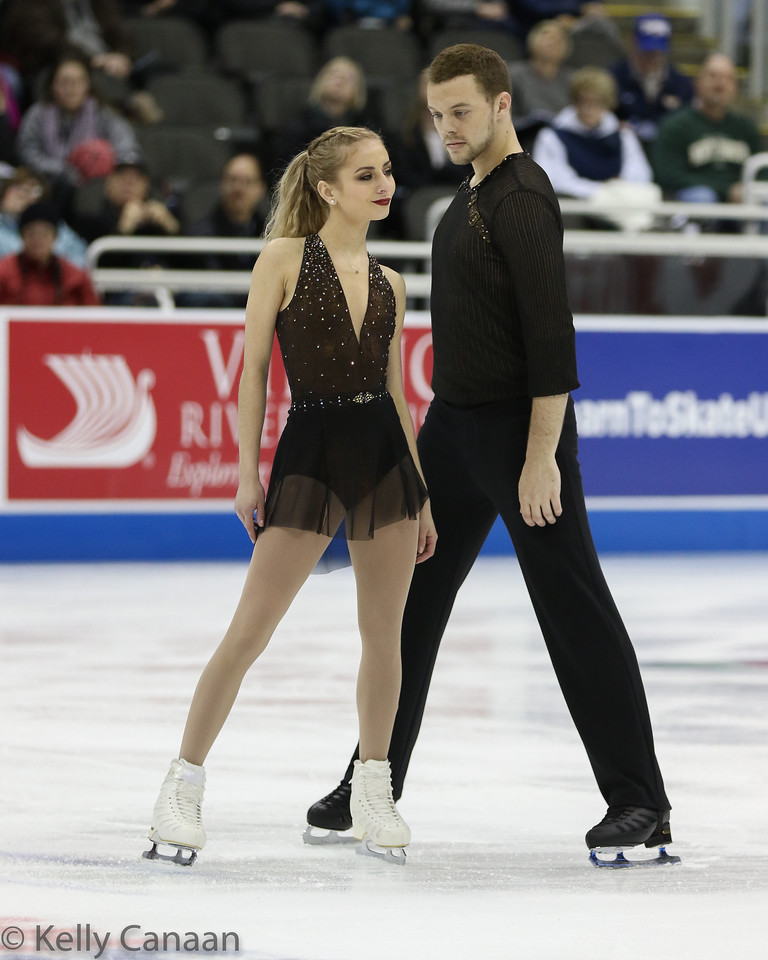 Tarah Kayne and Danny O'Shea competed in the pairs' short program but withdrew after Kayne suffered a concussion from a fall.