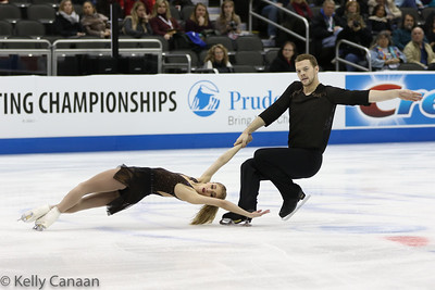 Tarah Kayne and Danny O'Shea fought threw the short program after Kayne had a hard fall but withdrew from competition before the free skate.