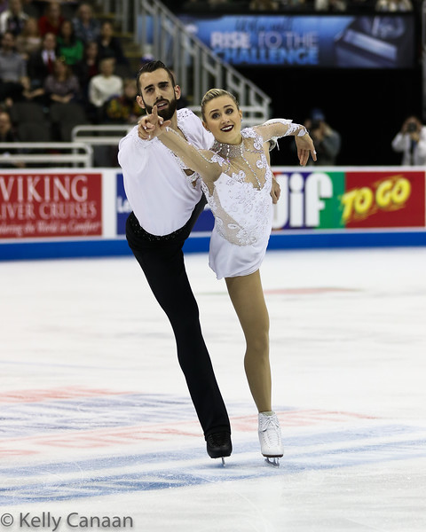 Ashley Cain and Tim LeDuc had only been together 6-7 months but were strong enough to win bronze.