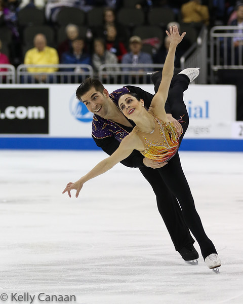 Nate Bartholomay and Deanna Stellato-Dudek won the pewter medal in Kansas City.