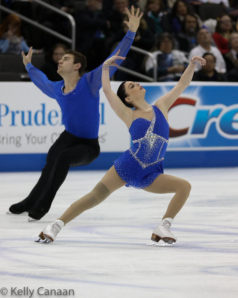 Haven Denney and Brandon Frazier perform their free skate in Kansas City, winning the gold medal.