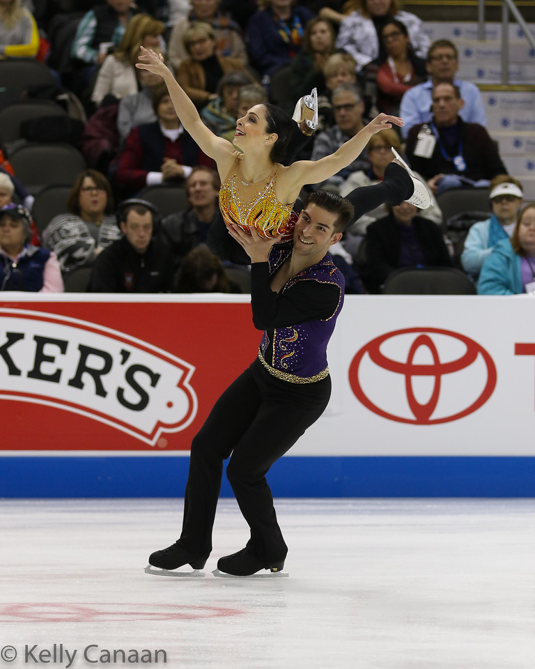 Deanna Stellato-Dudek returned to competition after 16 years away, this time as a pairs skater with Nate Bartholomay. They finished 4th.
