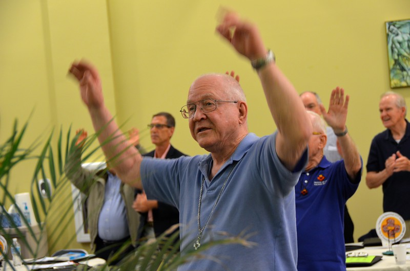 Even Fr. Bernie joins in the dancing!