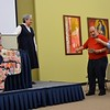 Fr. Tony presents a gift to Sr. Norma for her work in the Rio Grande Valley
