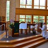Adoration ()Fr. Ed Zemlik is before the Blessed Sacrament)