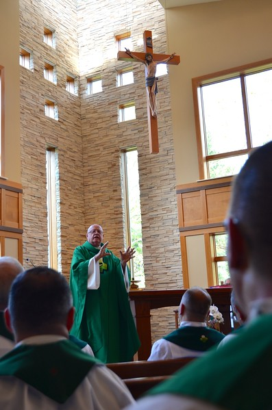 Fr. Mac gives the homily
