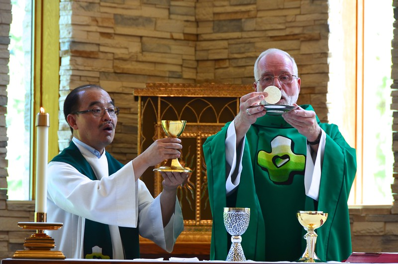 Fr. Quang (vice provincial superior) and Fr. Ed
