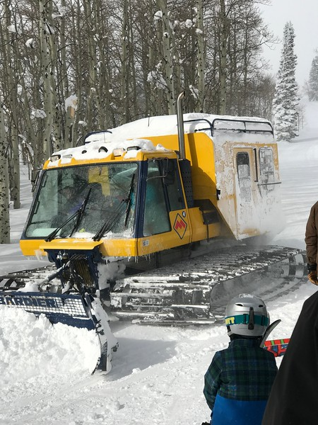 First time on a snow cat.