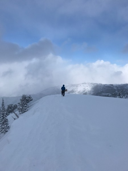 Side country at Powder Mountain.