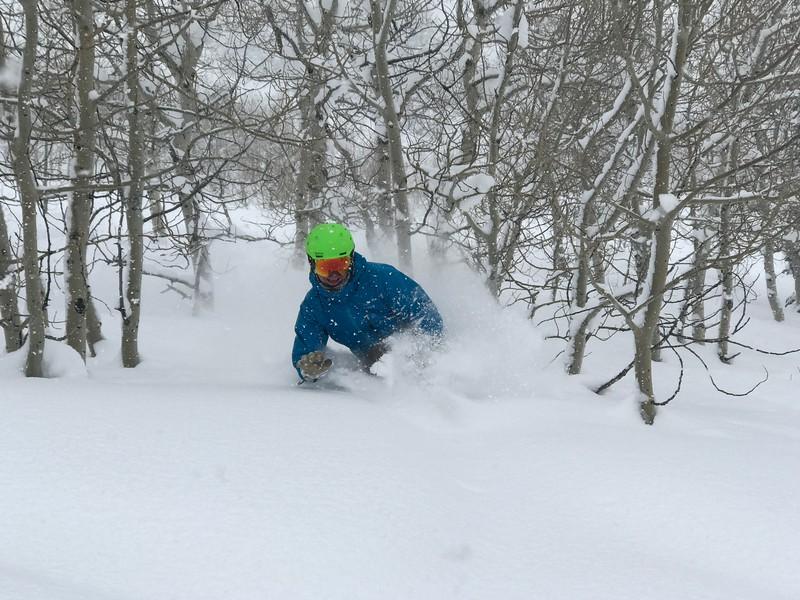 Ryan Dunn at Powder Mountain. Powder day!