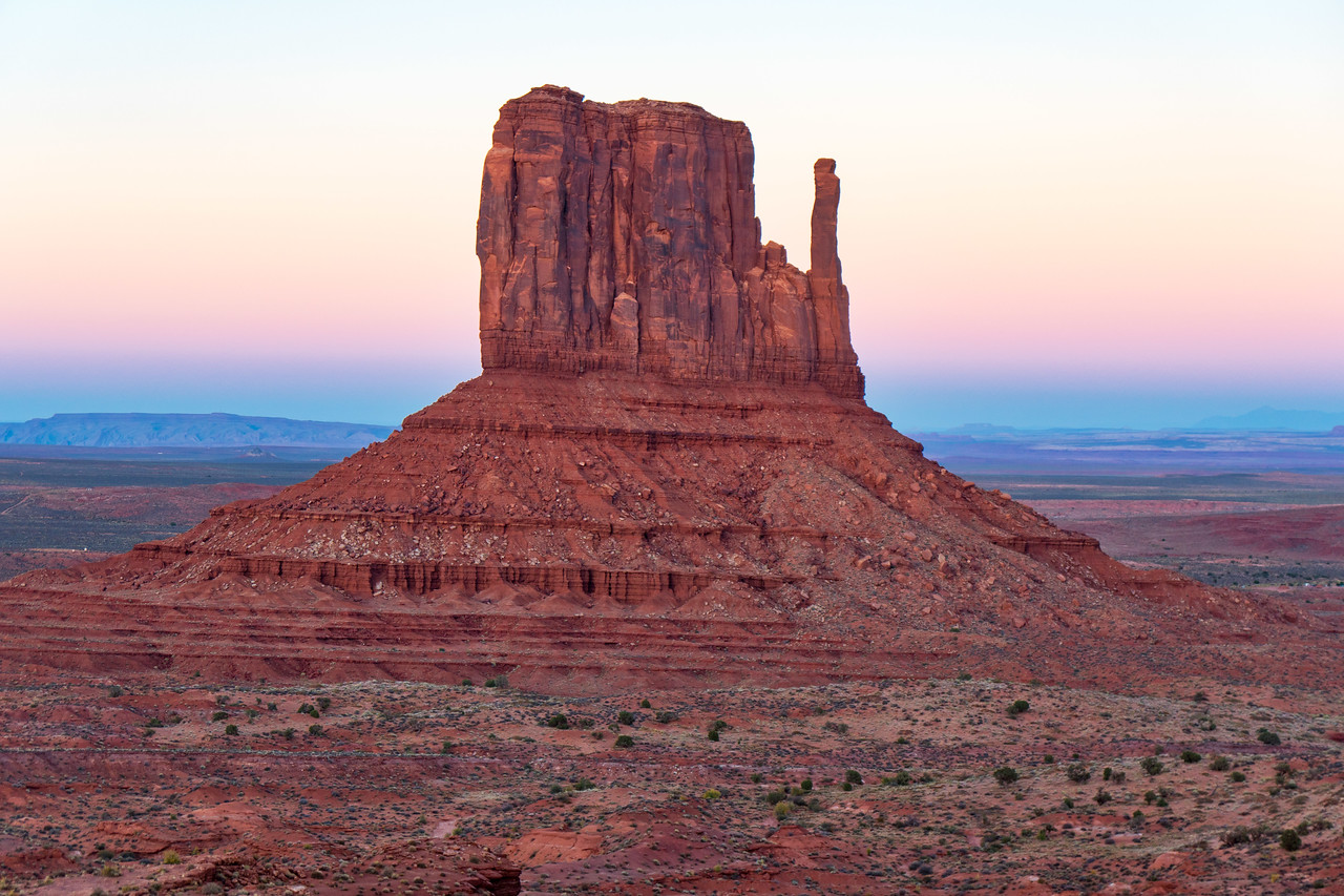Sunset in Monument Valley - West Mitten Butte