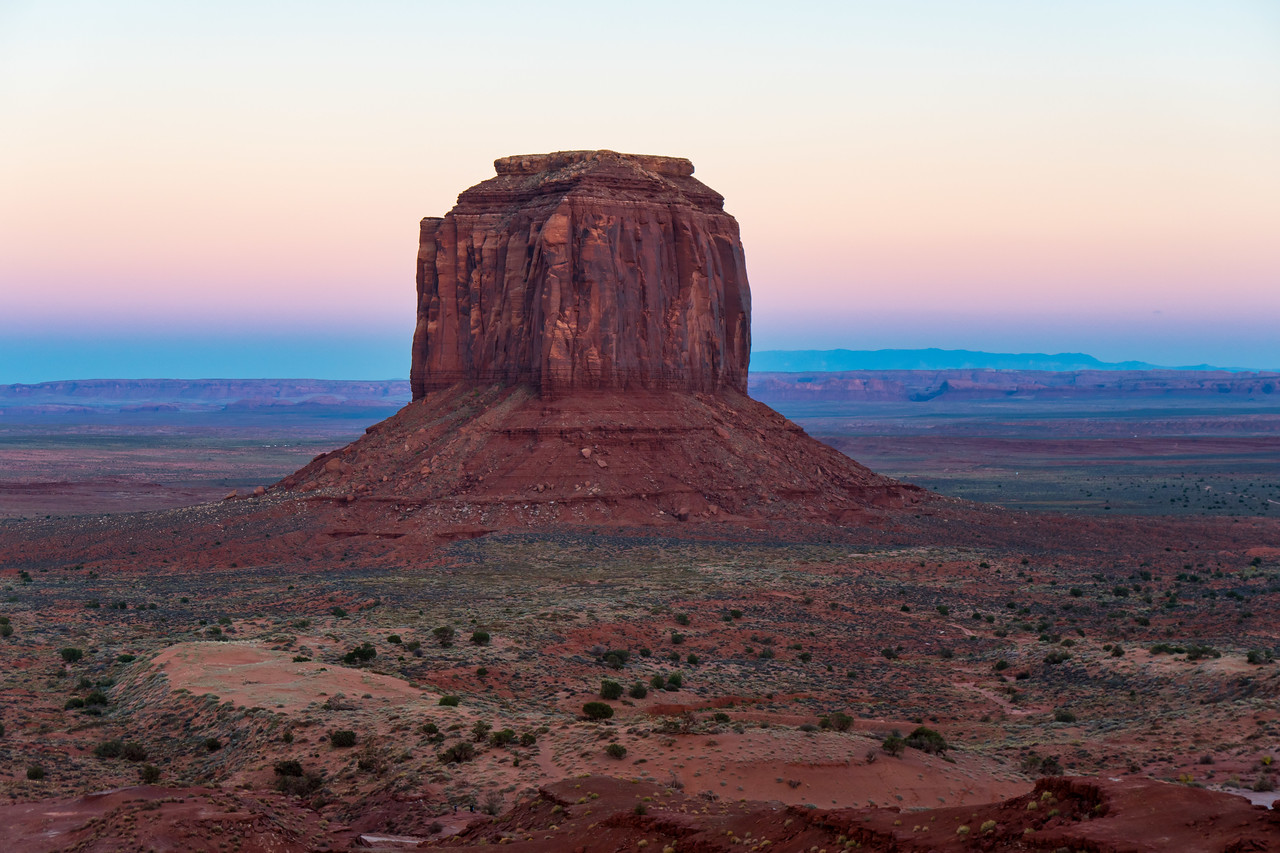 Sunset in Monument Valley - Merrick Butte