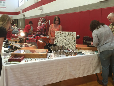 Karen Alvord - Oneida Daily Dispatch Attendees check out the assortment of vendors and community organizations at the VVS Community Day on Sunday, Oct. 15, 2017.