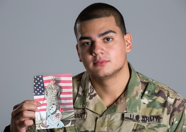 Holy Name Medical Center IT Technician Steven Escobar<br /> <br /> U.S. Army 2013-2016<br /> Station: Fort Bliss, Texas<br /> Position: Patriot Launching Station Operator<br /> <br /> Photo by Jeff Rhode / Holy Name Medical Center